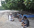 Some fishermen from Talaud being in the interview to gather initial information