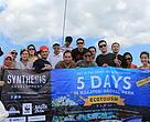 Photos with all participants over Menami Ships