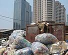 Hidden treasure: South Jakarta's business strip hides informal waste business which is part of the plastic recycling industry.