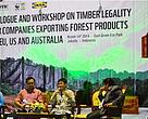 Panellists at the Dialogue and workshop on timber legality for forest products companies exporting to the EU, US and Australia © TRAFFIC