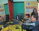 Peluncuran Radio Komunitas Bunut Hilir oleh Bupati Kapuas Hulu, H Abang Muhamad Nasir