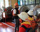 Mengunjungi Pembangkit Listrik Tenaga Air (PLTA) di Dago Bengkok, Bandung.