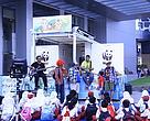 Kabin belakang Panda Mobile disulap jadi panggung.