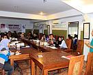 "Margareth Meutia selaku Koordinator Seafood Savers menjadi pembicara dalam workshop mengenai ""Perikanan Berkelanjutan: Memahami & Mendorongkan Perikanan Berkelanjutan di Indonesia"""