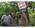 Tanda Petunjuk Tempat Keramat Dipasang oleh Masyarakat Adat di Masing-masing Kampung.  (Sumber: WWF Indonesia- Papua Program)